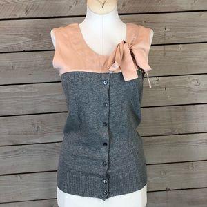 BB Dakota Grey & Pink Wool Knit Blouse